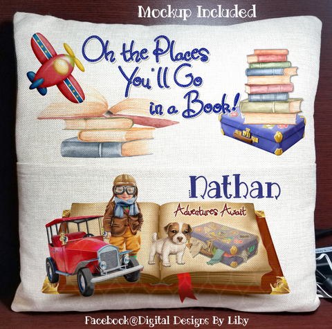 LITTLE AVIATOR- BOY (Book Pillow Design)