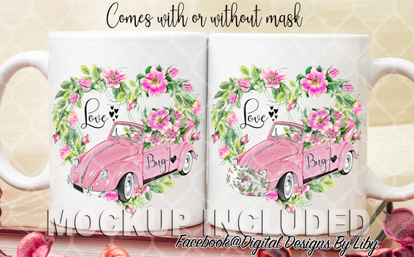 LOVE BUG! (2 Designs for Mugs, T-Shirts, Totes & More)