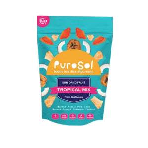Snack Pack Mix (425 gr.) 10 units per box by PuroSol-healthy snacks sun-dried in Guatemala, dehydrated fruits and herbs for all of your culinary creations