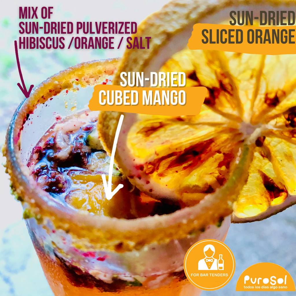 Sun Dried Cubed Mango by PuroSol (217 gr.)