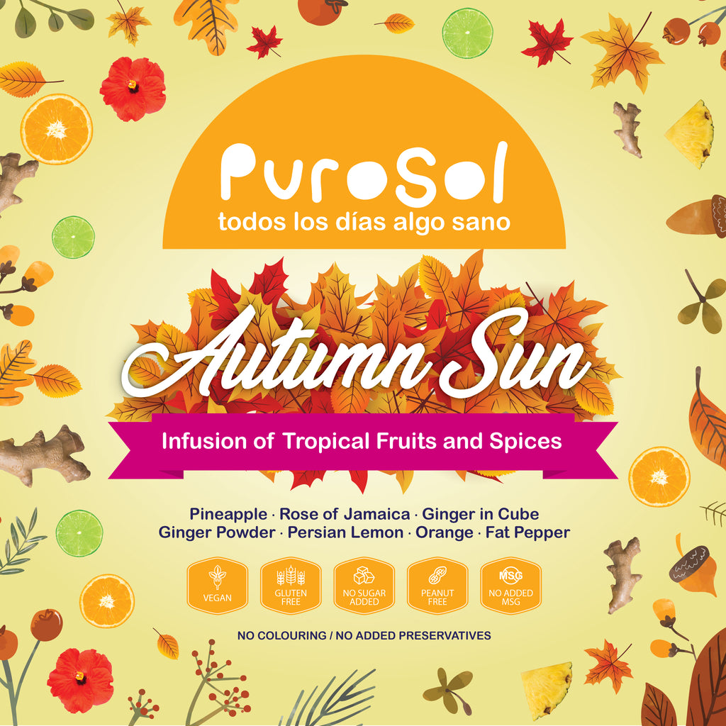 Autumn Sun Infusion by PuroSol-healthy snacks sun-dried in Guatemala, dehydrated fruits and herbs for all of your culinary creations