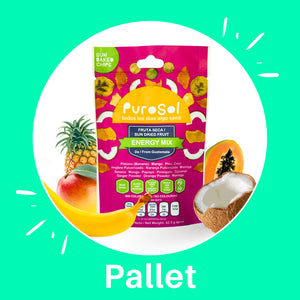 Pallet of Sun Dried Energy Mix by PuroSol (550 Kgs)-healthy snacks sun-dried in Guatemala, dehydrated fruits and herbs for all of your culinary creations