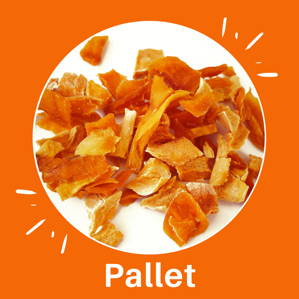 Pallet of Sun Dried Mango Power by PuroSol (550 Kgs)-healthy snacks sun-dried in Guatemala, dehydrated fruits and herbs for all of your culinary creations