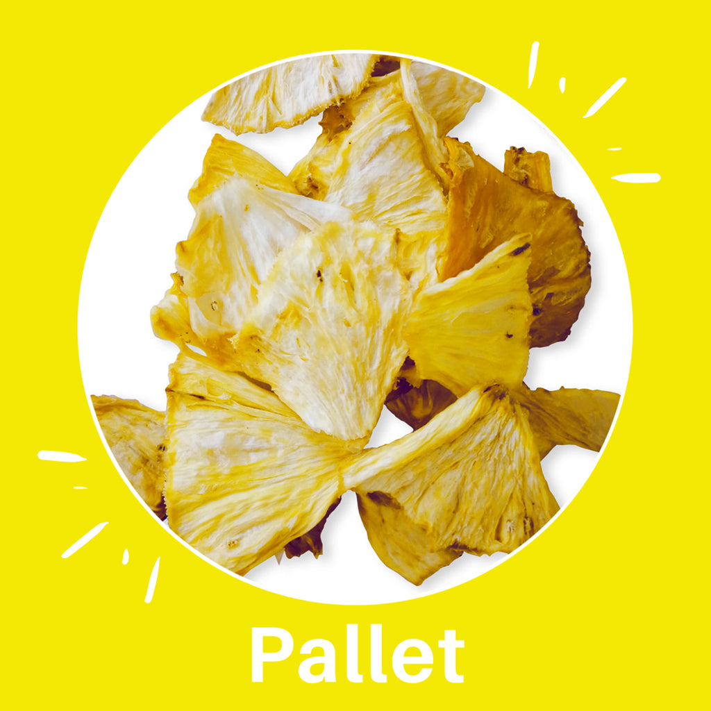 Pallet of Sun Dried Pineapple Power by PuroSol (422.5 Kgs)-healthy snacks sun-dried in Guatemala, dehydrated fruits and herbs for all of your culinary creations