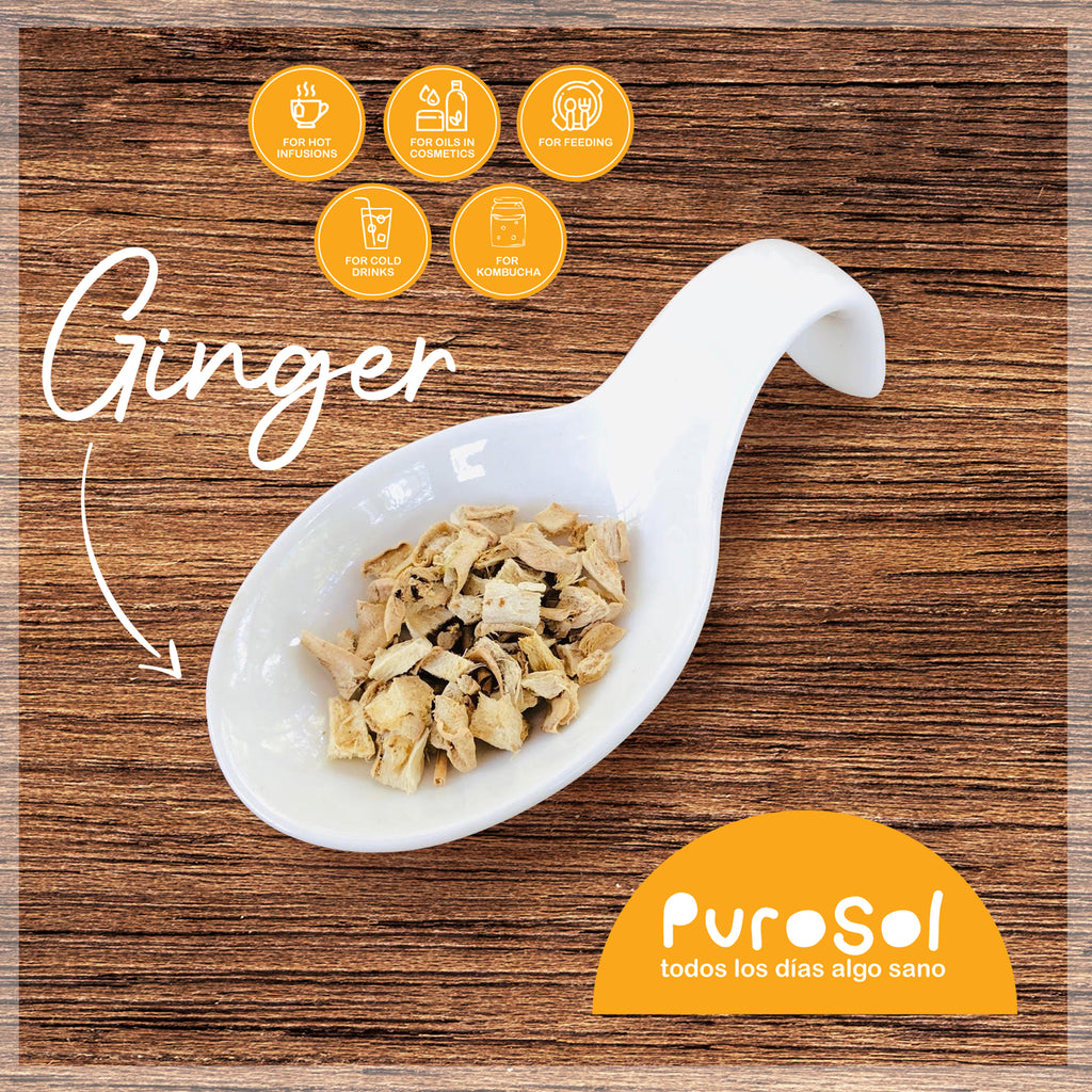 SuperFood Cubed Sun Dried Ginger (217 gr.)