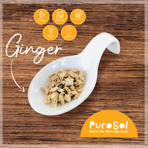 SuperFood Cubed Sun Dried Ginger (217 gr.)-healthy snacks sun-dried in Guatemala, dehydrated fruits and herbs for all of your culinary creations