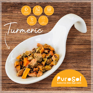 Superfood: Sun Dried Cubed Turmeric (217 gr.)-healthy snacks sun-dried in Guatemala, dehydrated fruits and herbs for all of your culinary creations