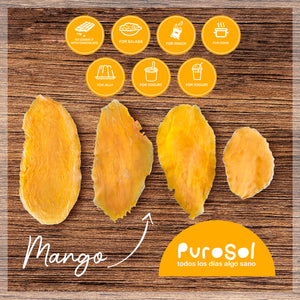 Sun Dried Sliced Mango (217 gr.)-healthy snacks sun-dried in Guatemala, dehydrated fruits and herbs for all of your culinary creations