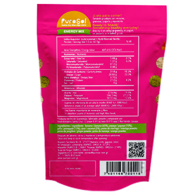 Sun Dried Energy Mix Snacks by PuroSol Snacks (42.5 gr.)