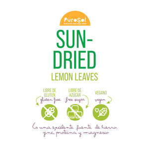 Sun Dried Lemon Leaves (217 gr.) by PuroSol-healthy snacks sun-dried in Guatemala, dehydrated fruits and herbs for all of your culinary creations