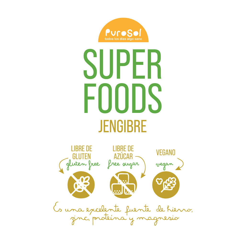 SuperFood Pulverized Sun Dried Ginger (217 gr.)
