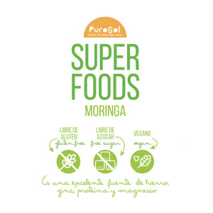 SuperFood Sun Dried Pulverized Moringa (217 gr.)-healthy snacks sun-dried in Guatemala, dehydrated fruits and herbs for all of your culinary creations