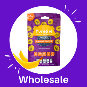 Wholesale Sun Dried Banana Power from PuroSol (Box of 4.56 Kgs)-healthy snacks sun-dried in Guatemala, dehydrated fruits and herbs for all of your culinary creations