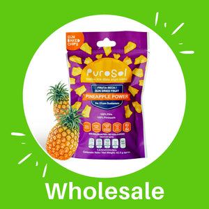 Wholesale Sun Dried Pineapple Power from PuroSol (3.5 KGS per Box)-healthy snacks sun-dried in Guatemala, dehydrated fruits and herbs for all of your culinary creations