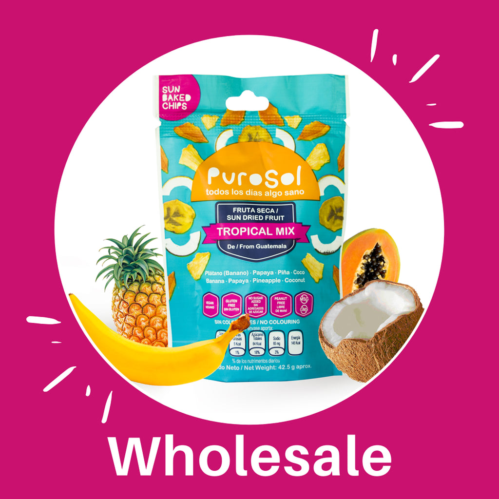 Wholesale Tropical Mix by PuroSol (Box of 4.5 Kgs)-healthy snacks sun-dried in Guatemala, dehydrated fruits and herbs for all of your culinary creations