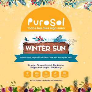 Winter Sun Infusion by PuroSol (217 gr.)-healthy snacks sun-dried in Guatemala, dehydrated fruits and herbs for all of your culinary creations