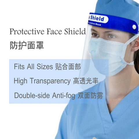 5pcs of Face Shield Safety Face Shield Reusable Full Face Transparent Windproof Dust-proof Anti-droplet With Protective Clear Film Elastic Band