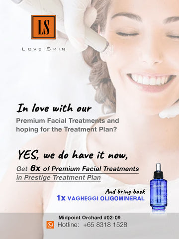 Prestige Treatment Plan - 6 Premium Exclusive Facial Treatment with 1 VAGHEGGI Oligomineral Skincare to banish skin problems!