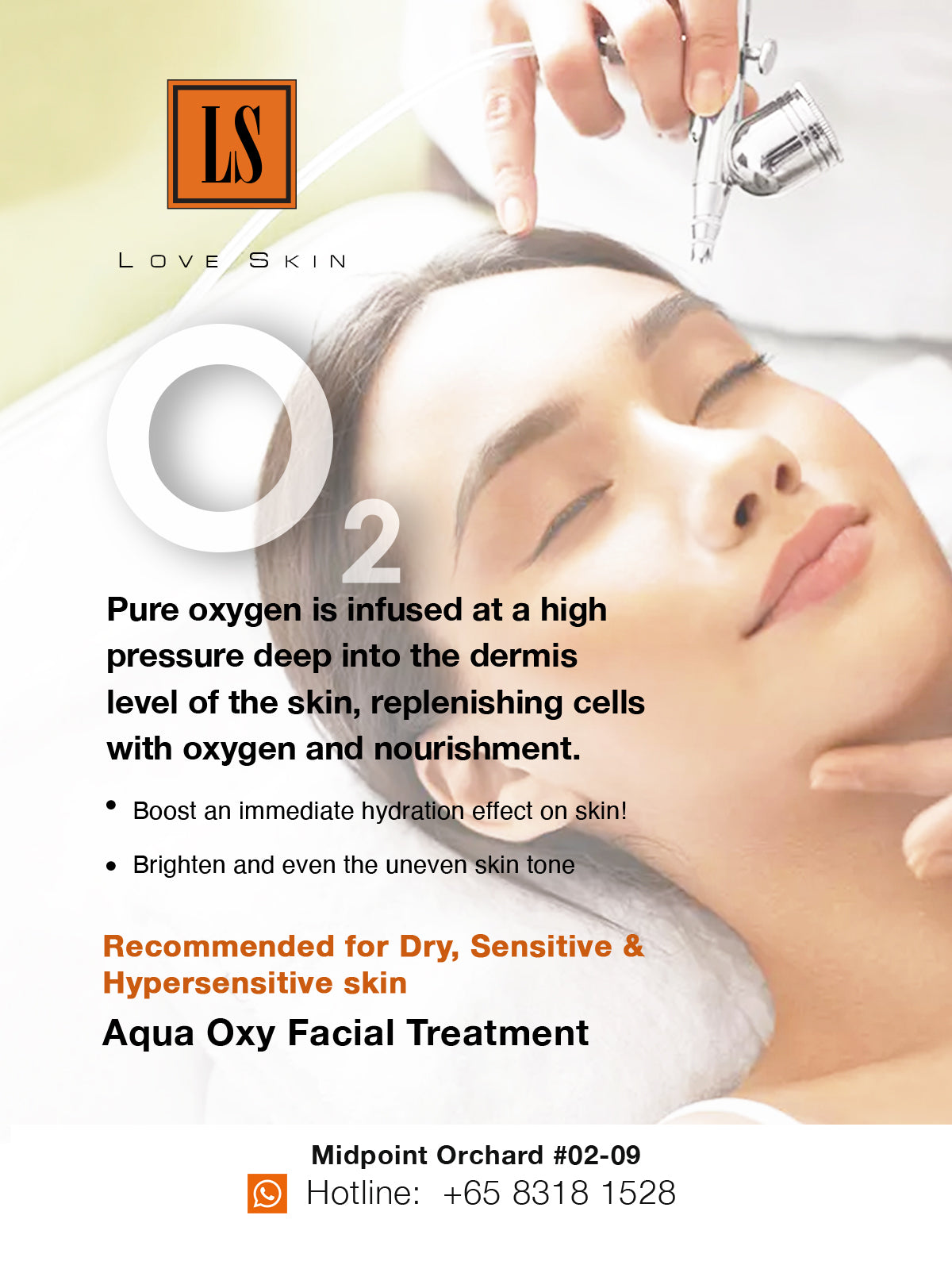 [S190003-60] Aqua Oxy Facial Treatment - Even for MOST Sensitive Skin!
