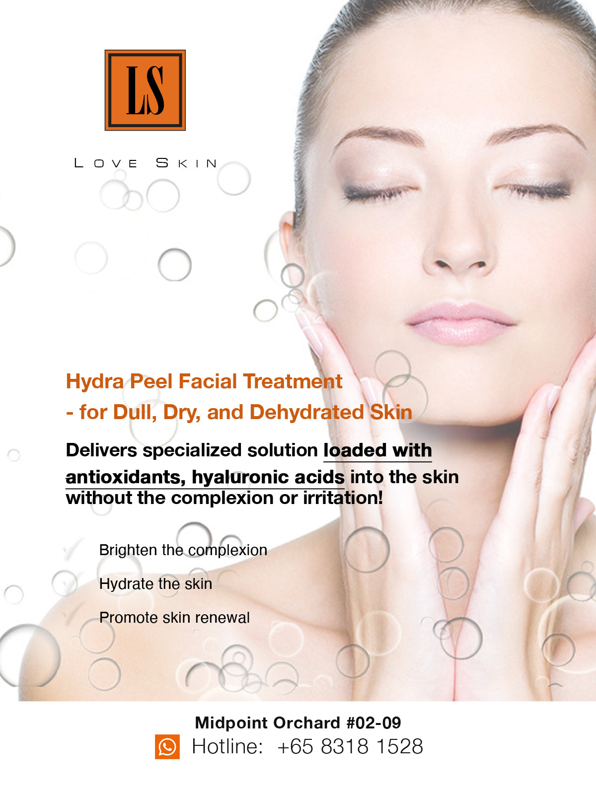 [S190007-60] Hydra Peel Facial Treatment - for Dull, Dry, and Dehydrated Skin