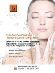 [S190007] Hydra Peel Facial Treatment - for Dull, Dry, and Dehydrated Skin