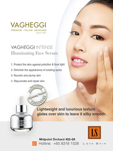 VAGHEGGI Intense Illuminating Face Serum - Blue Light Face Brightening, Hydrating, & Anti Aging Serum
