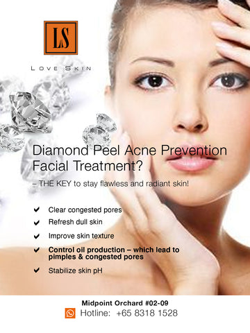 [S190008] Diamond Peel Acne Prevention Facial Treatment - Clean & Clear in 1 Session!