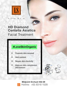 [S190023-60] HD Diamond Centella Asiatica Facial Treatment - Promote Skin Renewal, Anti-Oxidant,  & Improve Skin Texture & Complexion