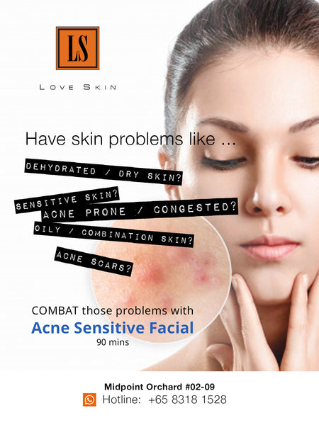 [S190010] Acne Sensitive Facial Treatment - Combat STUBBORN Acne in a Gentle Way!