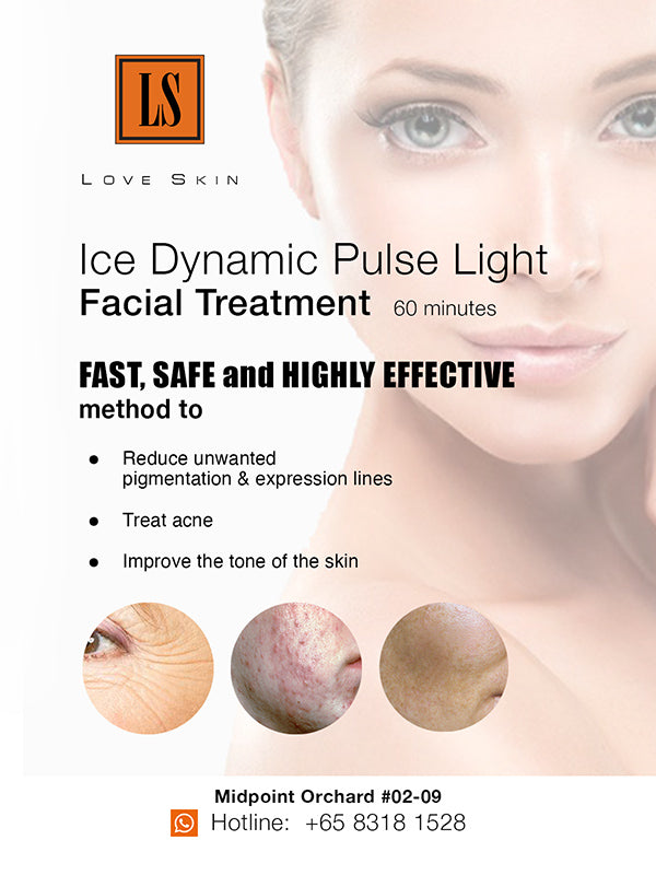 [S190004-60] Ice Dynamic Pulse Facial Light Treatment - TACKLE Acne, Pigments, Wrinkles and Uneven Skin Tone!