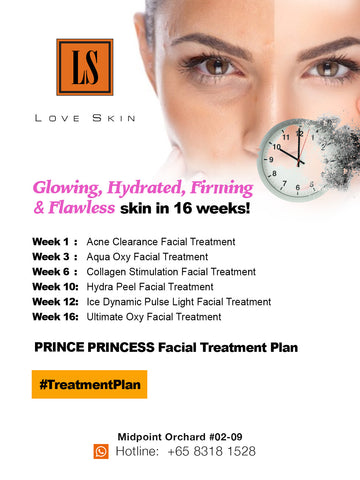 Prince Princess Facial Treatment Plan - Clear Complexion with glowing skin from the inside out!