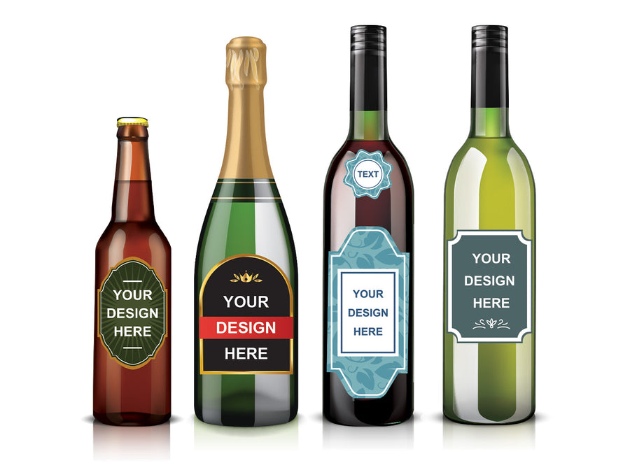 24 x Custom Designed & Made Labels (any drink category)