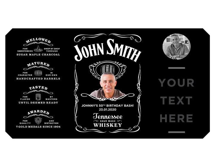 1 x WHISKEY 700ml Complimentary Label With Picture AND/OR Text