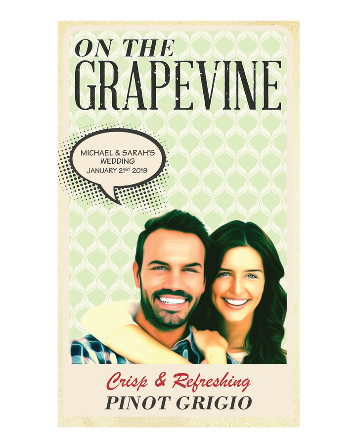 6 x 750ml McWilliams On The Grapevine Pinot Grigio labels with PICTURE & TEXT