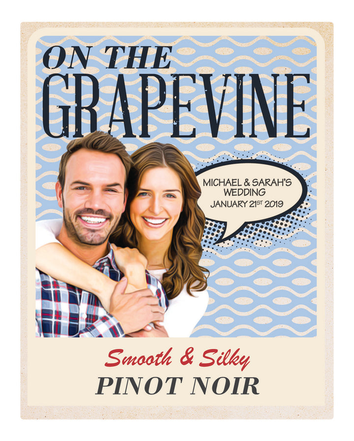 6 x 750ml McWilliams On The Grapevine Pinot Noir labels with PICTURE & TEXT