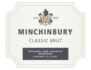 6 x 750ml Minchinbury Brut labels with PICTURE AND/OR TEXT