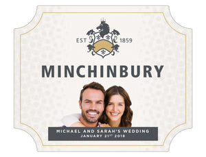 6 x 750ml Minchinbury Brut labels with PICTURE & TEXT-My Brand And Me