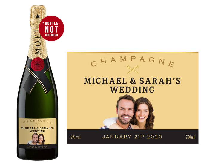 1 x Moët & Chandon Champagne 750ml Complimentary Label With Picture AND/OR Text