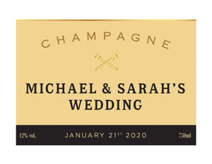 6 x Moët & Chandon Champagne 750ml Complimentary Label With Picture AND/OR Text