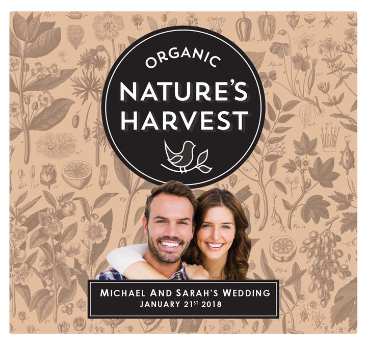 6 x 750ml Nature's Harvest Shiraz labels with PICTURE & TEXT-My Brand And Me