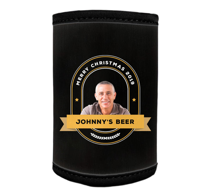 GENERIC 1 x Personalised Stubby Holder with PICTURE and/or TEXT