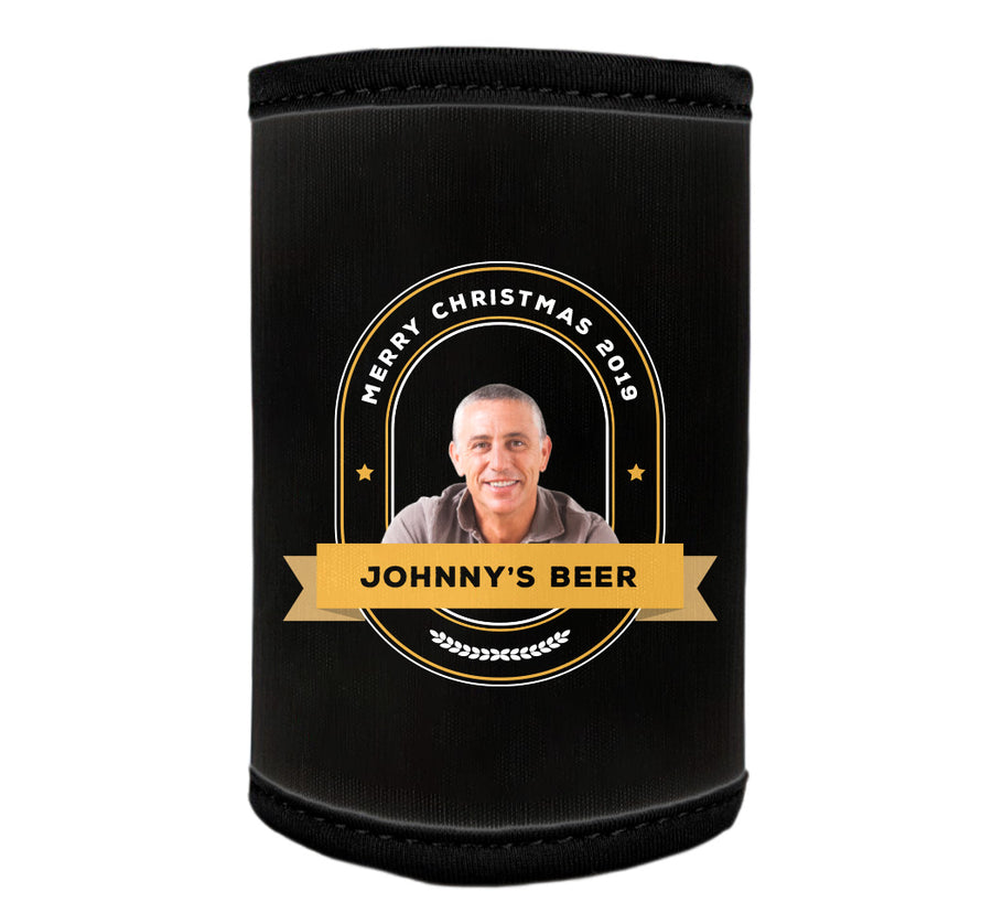GENERIC 6 x Personalised Stubby Holder with PICTURE and/or TEXT (Discounts for multiples)