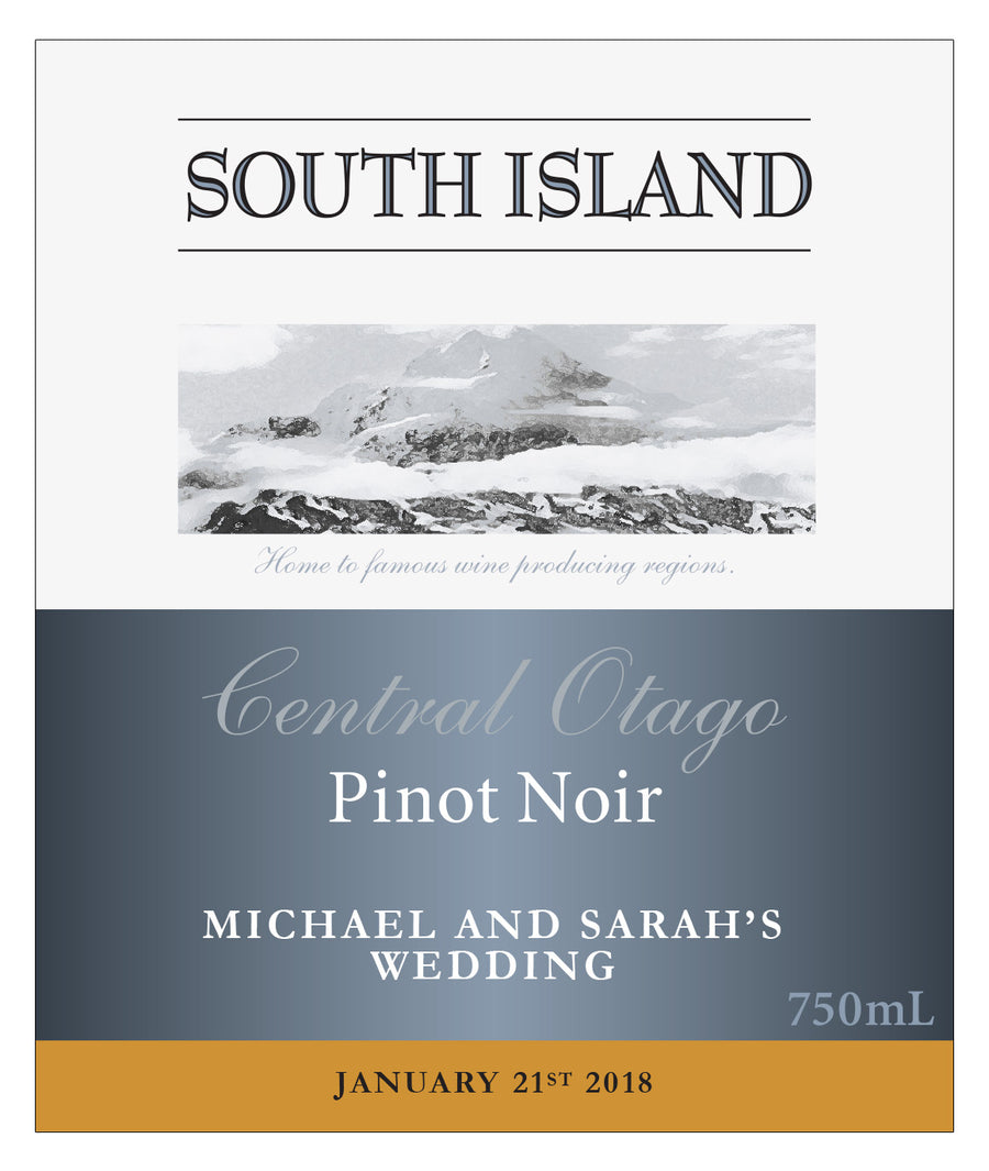 6 x 750ml South Island Pinot Noir labels with PICTURE AND/OR TEXT