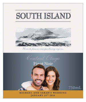 6 x 750ml South Island Pinot Noir labels with PICTURE & TEXT-My Brand And Me