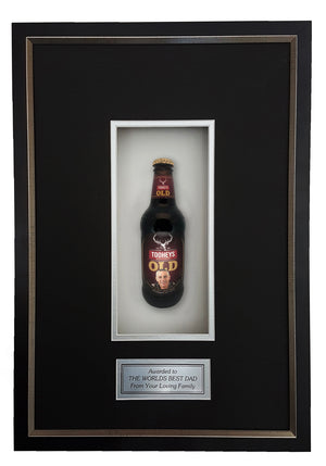 TOOHEYS OLD Deluxe Framed Beer bottle with Engraving (50cm x 34cm)-My Brand And Me