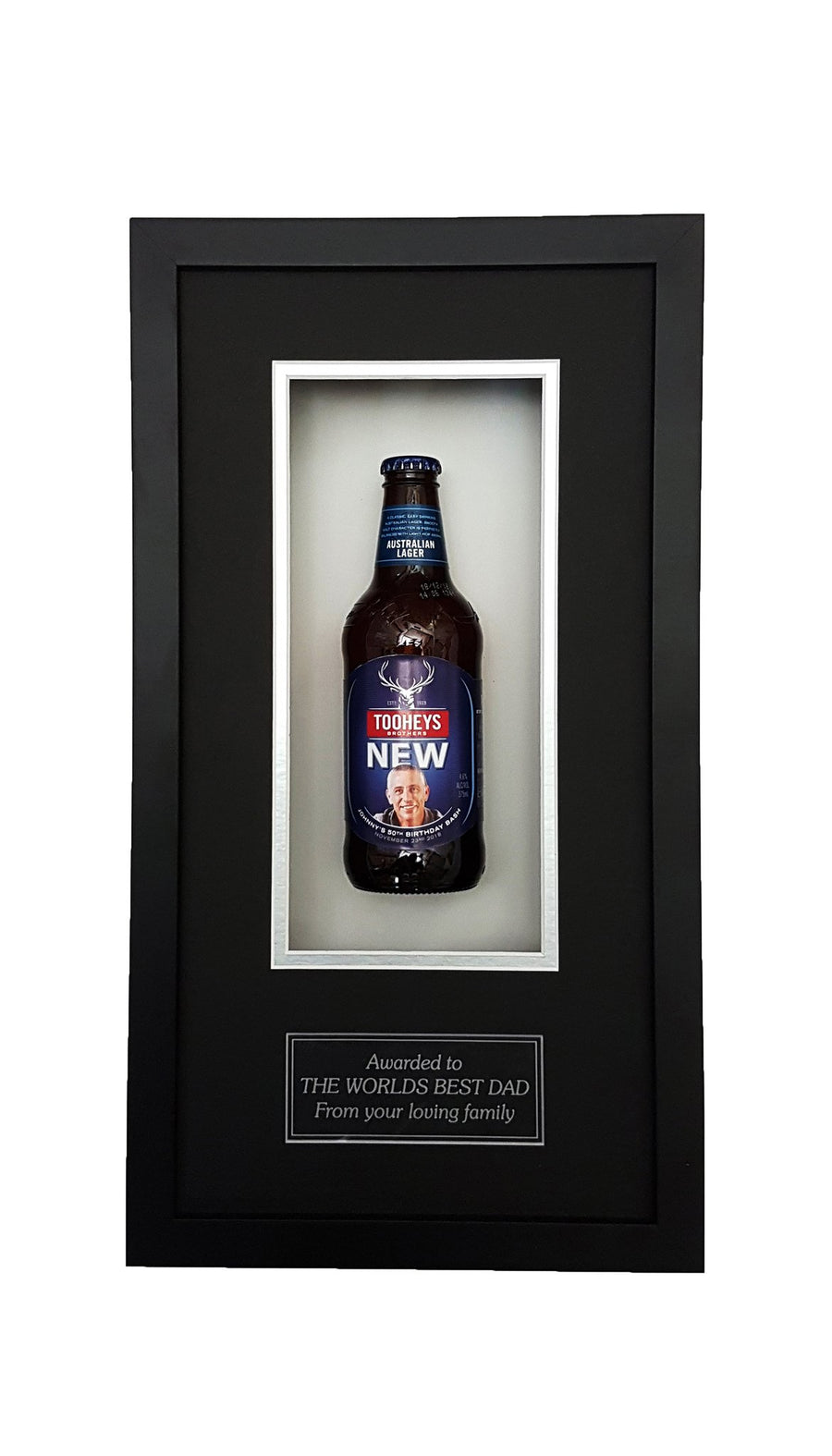 TOOHEYS NEW Framed Beer Bottle (44cm x 24cm)-My Brand And Me