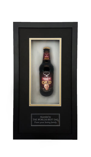 TOOHEYS OLD Framed Beer Bottle (44cm x 24cm)-My Brand And Me