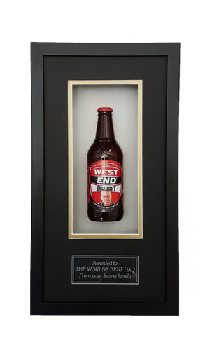 WEST END DRAUGHT Framed Beer Bottle (44cm x 24cm)-My Brand And Me