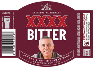 XXXX BITTER 6 x 375ml Stubby labels with PICTURE & TEXT-My Brand And Me