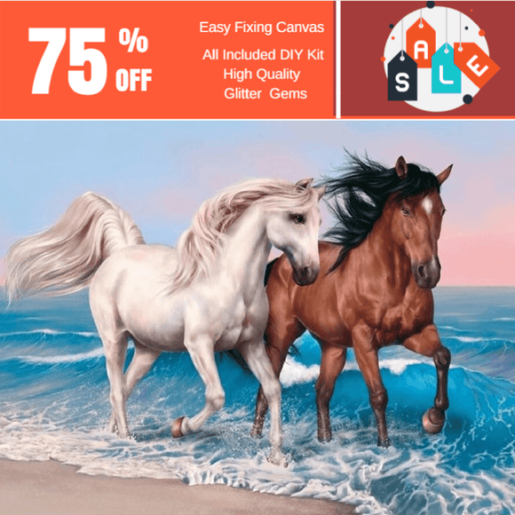 Horses Are Free Diamond Painting